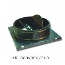 Пластиковый адаптер с клапаном расхода воздуха Airone АК 300х300/200