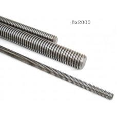 Шпилька М 6х2000 резьбовая оцинкованная