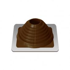 Крышный проход Мастер флеш №4, диаметр (76-152), коричневый, прямой