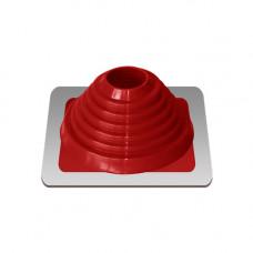 Крышный проход Мастер флеш №4, диаметр (76-152), красный, прямой