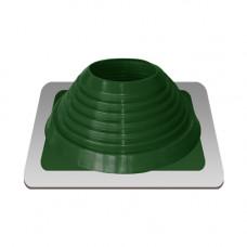 Крышный проход Мастер флеш №7, диаметр (157-280), зеленый, прямой