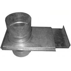 Шибер-задвижка, d 100 из оцинкованной стали