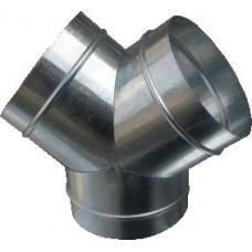 Тройник Y (штаны), d 100 из оцинкованной стали